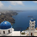The scenic caldera rim of Santorini
