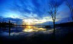 Sunset Lake Kariba . Fish-eye lens shot! photo by Uhlenhorst . Away for longer time