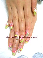 juicy fruits nails photo by aya1gou