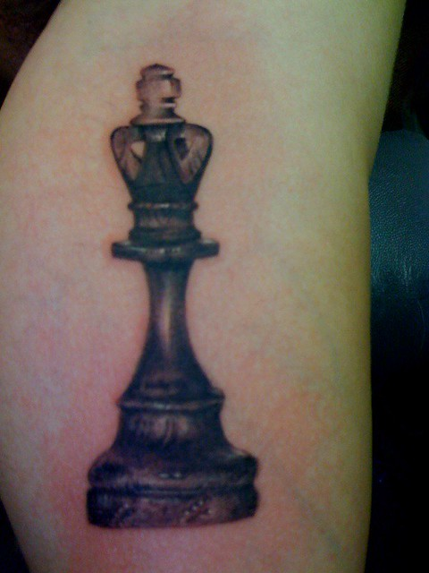 Queen Chess Piece Tattoo Design