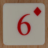 Playing Card Tile 6 of Diamonds