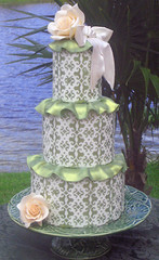 Green Victorian cake photo by sharoncakes