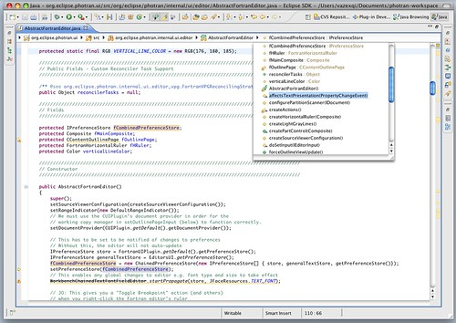 Breadcrumb navigation in the Java editor
