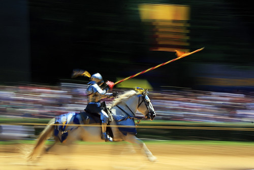 jouster on horse