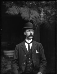 Portrait of a man in suit with waistcoat photo by Powerhouse Museum Collection