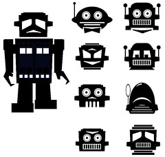 ROBOT DESIGNS photo by RobertBlankenship aka PaperGhostDesign