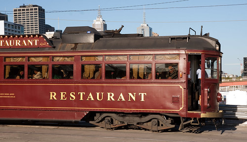 Blog postings need images, apparently; so here's one that's distantly related to the topic under discussion - it's a restaurant tram in Melbourne