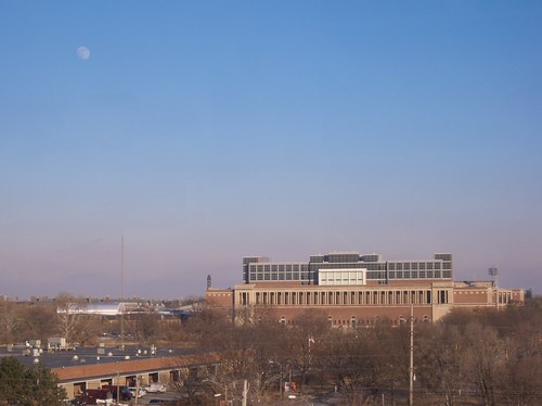 Moon over Memorial Stadium