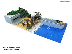 D-Day, June 6th, 1944. Storming Utah Beach. photo by Lego Junkie.