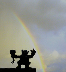 HAPPY MJOLNIR! - CROSS THY RAINBOW BRIDGE WHEN THOU DOST COMEST TO IT photo by zero g
