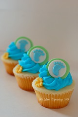 Baby Footprint Cupcakes photo by TheLittleCupcakery