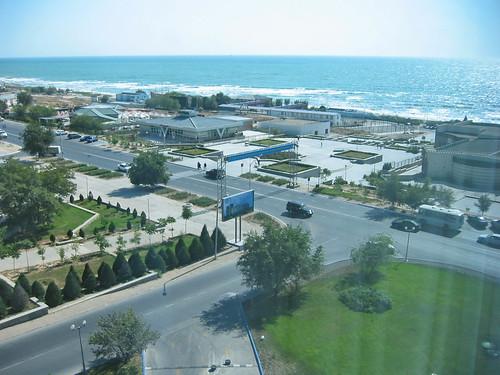 Plage de la mer Caspienne