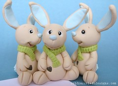 jack rabbits  done photo by Cold Porcelain Designs