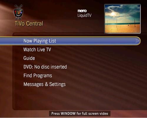 LiquidTV Menu