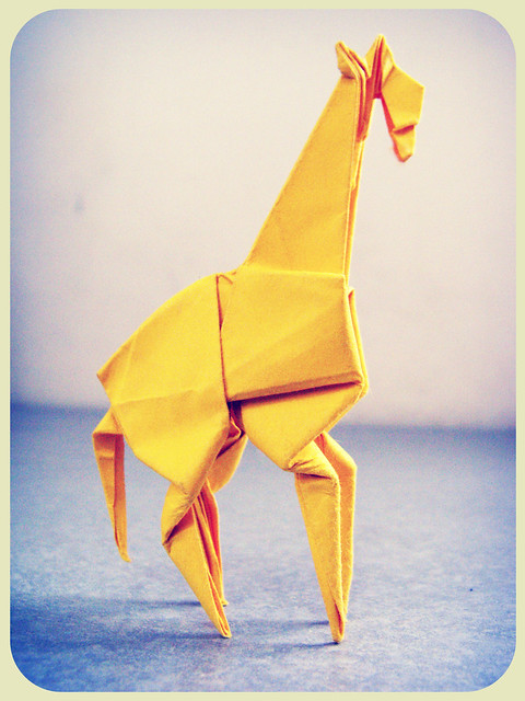 origami giraffe easy instructions
