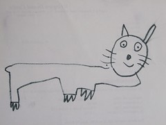 A Happy Pussy Cat - Drawing photo by Childrens Book Review