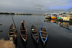 Fort Kochi Boat Yard and Four Canoes ! photo by Anoop Negi