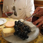 Wonderful cheese and wines