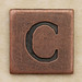 Copper Square Letter C