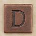 Copper Square Letter D