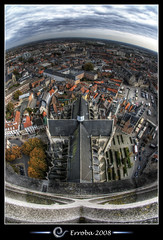 View from St Rumbolds Tower over the city of Mechelen, Belgium :: HDR :: Fisheye photo by Erroba