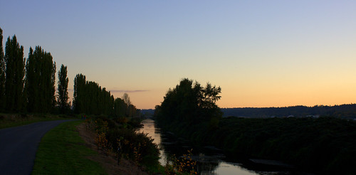 Evening walk along the Sammamish River