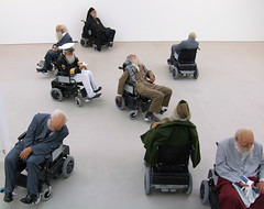 Old Person's Home, Saatchi Gallery, London. photo by Jim Linwood
