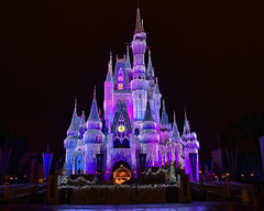 Disney - Cinderella Castle Dream Lights (Explored) photo by Express Monorail