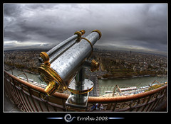 Take a look, Eiffel tower, Paris, France :: Fisheye :: HDR photo by Erroba