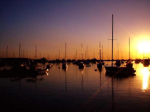 ... water silhouette port bay boat sundown yacht horizon philippines manila ...