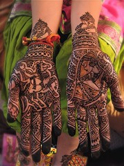 dulha dulhan design with horse photo by HennaLounge