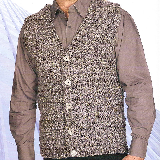 MAN VEST CROCHET PATTERN ? Easy Crochet Patterns