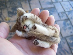 Needle Felted Tabby Cat photo by emeyer1044