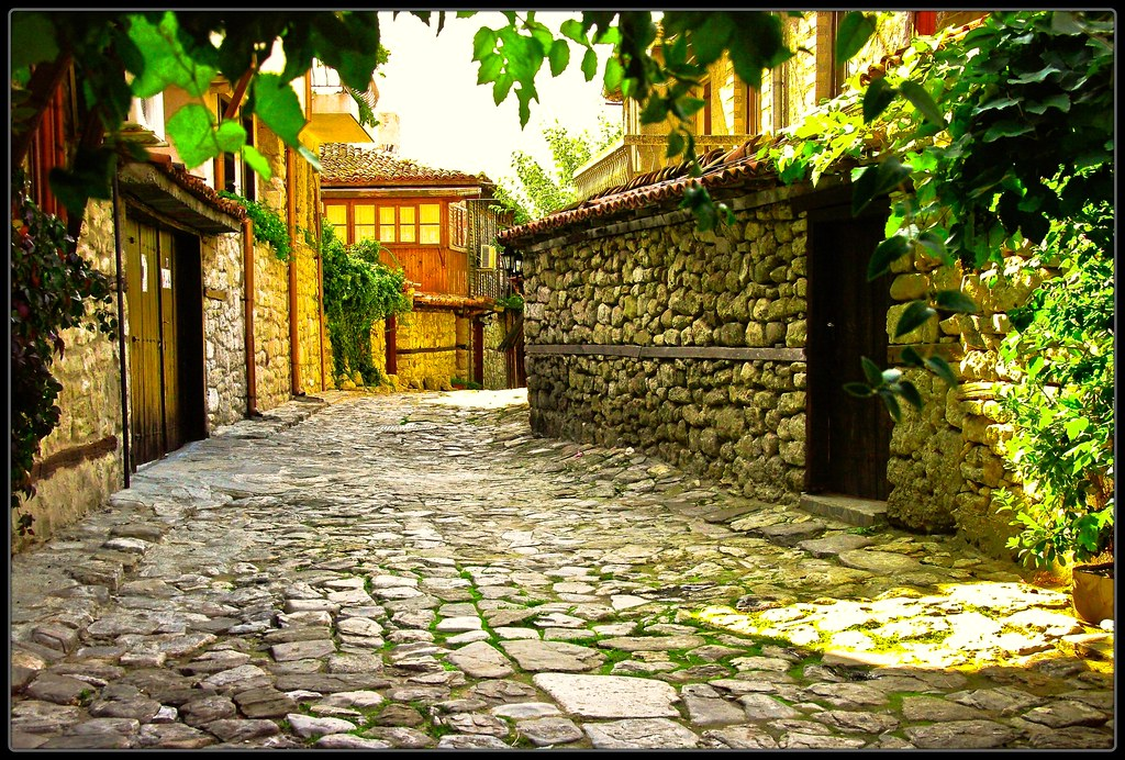 Gasse in Nessebar - in Bulgaria photo by NPPhotographie
