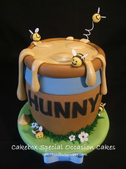 """Pooh's """"Hunny Pot"""" Cake photo by Cakebox Special Occasion Cakes"""