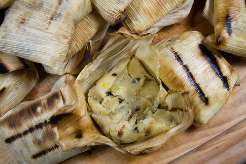 Grilled Tamales with Poblano Peppers and Corn