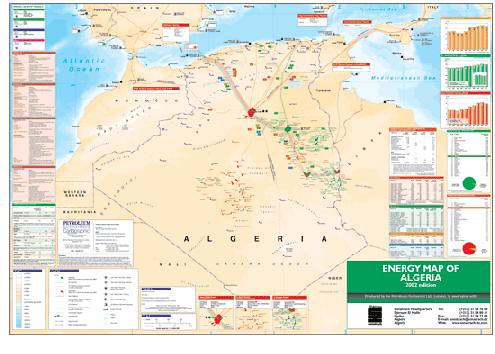 Energy map of Algeria
