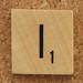 Wood Scrabble Tile I