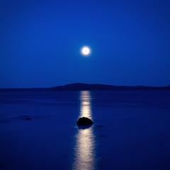 moon reflections on blue photo by H o g n e