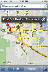 iPhone screenshot of Maps app