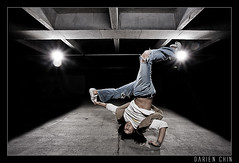 Touch your toe if you love hip hop photo by Darien Chin