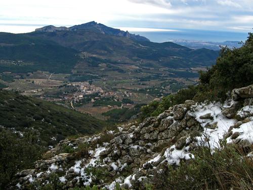 La Torre de les Maçanes, desde Els Plans
