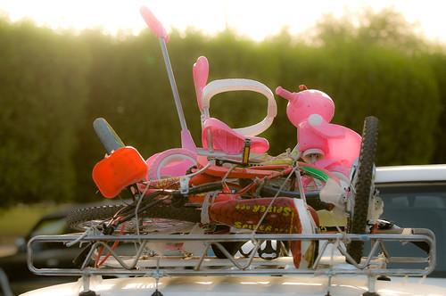 Toys on a car