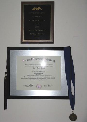 Bachelor's Degree & Tchetter Award