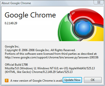 Google Chrome - Dev Build Update