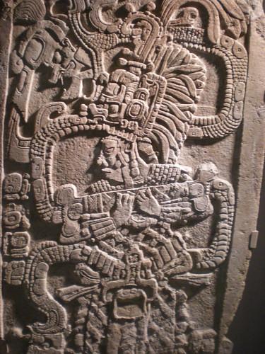 limestone Maya Stele - 761 AD - Mexico Guatemala or Belize