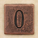 Copper Square Number 0