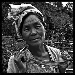 Vieja señora del estado Shan, en el camino del lago Inle, Birmania... photo by [cation]