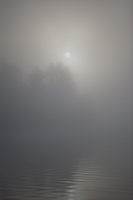 Morning fog over the Windigo lake