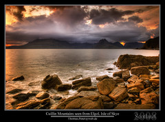Cuillin Mountains seen from Elgol, Isle of Skye photo by thpeter